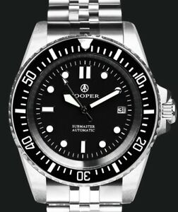 Mens Cooper Submaster Automatic Watch Brand New No UK Vat RRP £150 Dive Diver