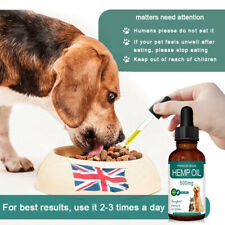 Hemp Oil for Dogs Cats Pets Natural Herbs of Pet Care Oil Anxiety Pain Relief UK