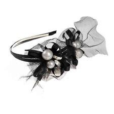 Diadema de color principal negro encaje para cabello de mujer