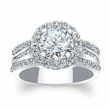 1.88 Ct Round Cut Diamond Solitaire Engagement Ring 14k White Gold Size N H J P