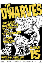 DWARVES/VELOSTACKS/BAYOU VIMANA 2018 HOUSTON CONCERT TOUR POSTER-Punk Rock Music