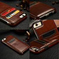 Ultra Thin Leather Wallet Credit Card Slot Holder Back Case Cover for iPhone 6/7
