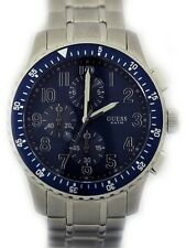 Guess Mens Chronograph Blue Dial Stainless Steel Bracelet Watch W19007G2