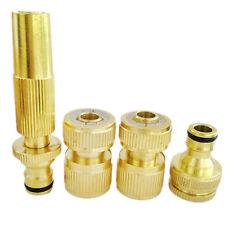4Pcs/LOT Brass Hose Pipe Fitting Set/ Garden Tap Quick Connectors & Spray Nozzle