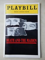 July 1992 - Brooks Atkinson Theatre Playbill - Death And The Maiden - Close