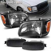 for 2001-2004 Toyota Tacoma Headlights+Corner Signal Lamps+Bumper Light Pair
