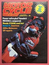MOTOR CYCLE WEEKLY - 2nd July 1983 - Test: Honda VT500E - Magazine