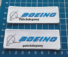 Boeing Aviation Transportion Logo Patch Jersey 2pcs sew on embroidery