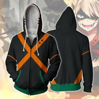 Long Sleeve Hooded Jacket Coat My Boku No Hero Academia Bakugo Katsuki #HJ58
