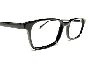 Warby Parker Crane 100 Men's Black Modern Rx Eyeglasses Frames 52/18~145