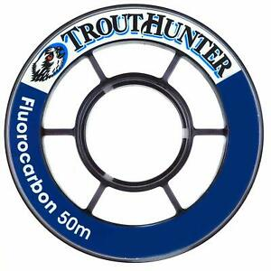 TROUTHUNTER 50M SPOOL FLUOROCARBON TIPPET IN SIZE 5.5X - 4.4LB TENSILE STRENGTH