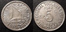 Comité régional de Toulouse , Haute Garonne 5 centimes 1922 - 1930 Union Latine