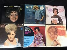 Lot of 6 Vinyl Records KITTY WELLS, Sandy Posey, Brenda Lee, Anita Bryant
