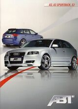 Audi A3 ABT Tuning 2009 German Market Sales Brochure 3-dr Sportback S3