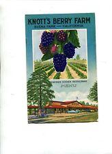 Vintage Restaurant Menu KNOTTS BERRY FARM Chicken Dinner Restaurant 1954 $2