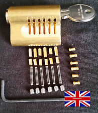 YALE CUTAWAY 6 PIN **RE-PINNABLE ** EURO PRACTICE LOCK with extra pins