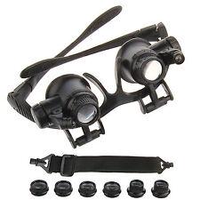 10X 15X 20X 25X LED Brillenlupe Kopflupe Lupenbrille Lupe Vergrößerungsglas