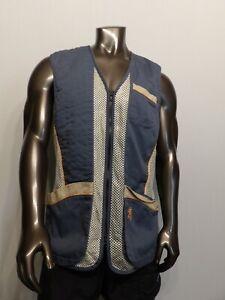 Browning Reactar Mesh Shooting Vest Men's Large Blue Pockets EXCELLENT PERFECT