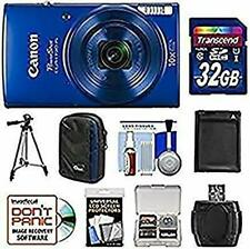 Canon PowerShot Elph 190 is Wi-Fi Digital Camera (Blue) with 32GB Card + Case +