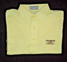 Men's NASCAR Chattanooga Chew David Pearson Racing Yellow Polo Golf Shirt L NEW