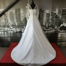 Magnificent MAGGIE SOTTERO Wedding Gown with Train (White-Size 10) Stunning !