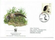 CROATIA  2004 WWF  FDC  Endangered Species.  Purple Heron  SG755