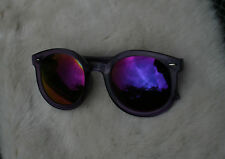 PURPLE JELLY BEAN SUNGLASSES MIRRORED LENSES WOMEN'S VINTAGE KITSCH PRINCE COOL