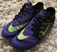 reputable site 64ac0 d68cc Nike Zoom Ja Fly 2 Track Spikes Men s 10.5 Purple Black Volt 705373-035  125