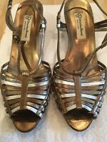 Women's OTTORINO BOSSI Leather Strappy Shoes Size 39 1/2/7-Excellent Condition
