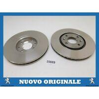 Pair Front Brake Discs Pair Of Original Peugeot