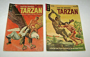 1962 & 63 Tarzan Comic Books 132 & 135 by Gold Key Pin Up Back Covers