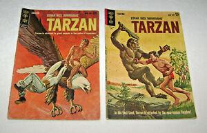 1962 & 63 Tarzan Comic Books 132 & 135 by Gold Key Pin Up Back Covers