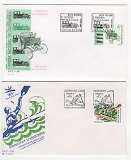 Andorre 2 FDC enveloppes timbres 1er jour 1992 /FDC110