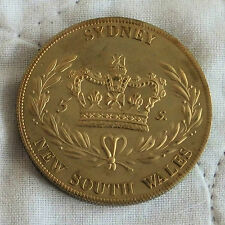 AUSTRALIA SYDNEY NSW 1840 GOLDEN ALLOY PROOF PATTERN CROWN - mintage 18
