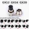 1Set GX16/GX20/GX12 Aviation Plug Male&Female Wire Panel Metal Connector 2-12Pin