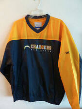 San Diego Chargers Jacket / Windbreaker Pull-over Navy Gold L Reebok