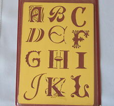 2 Pack of Solid Brass Embossing Stencil - NEW  Monogram Letters - Free Shipping!