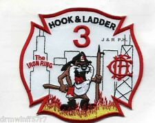 """Chicago  Hook & Ladder-3  """"TAZ - The Iron Ring"""", IL (4.25"""" x 4"""" size) fire patch"""