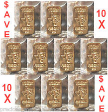 GOLD 24K PURE BULLION 10  BARS of one third GRAM 999 FINE INGOT LOT SAVE SAVE !!