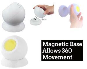 360 Degree Rotation COB LED Wireless Swivel Ball Light Cordless Lights Home OZ
