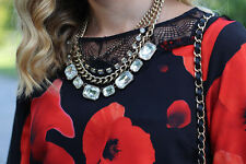 MARK Womens Dark Bloom (Poppy) Dress by Avon, Size M