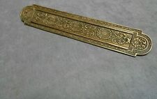 Vintage French BRONZE FLORAL Ornate MAIL BOX Plate Door Mail Slot