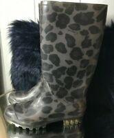 Women's Coach 10 new Rubber Rain Boots printed