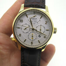 43mm Parnis Miyota 9100 Automatic Movement Men Watch Gold Case Sapphire Crystal