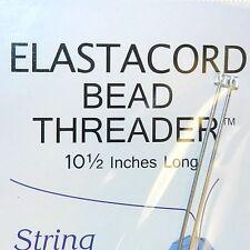 "Tl121f Elastacord Bead Threader Stainless Steel 10-1/2"" Long Needle w Hook 2/pkg"