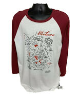 NWT Game Of Thrones Long Sleeve T Shirt Westeros Maroon & White Men's XL