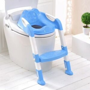 3 in1 Kids Potty Training Chair With Steps Stool Baby Toilet Ladder Commode Seat