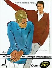 Publicité Advertising 089  1963   Vitos  sweater homme Crylor pull-over