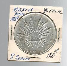 1889 Mexico 8 Reales Potosi Y 177.12 SIlver Coin