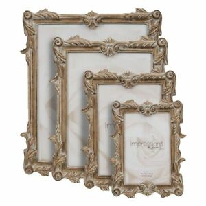 Antique Carved Wood Effect Design Photo Frame.4 sizes Avail.4x6. 5x7. 6x8. 8x10